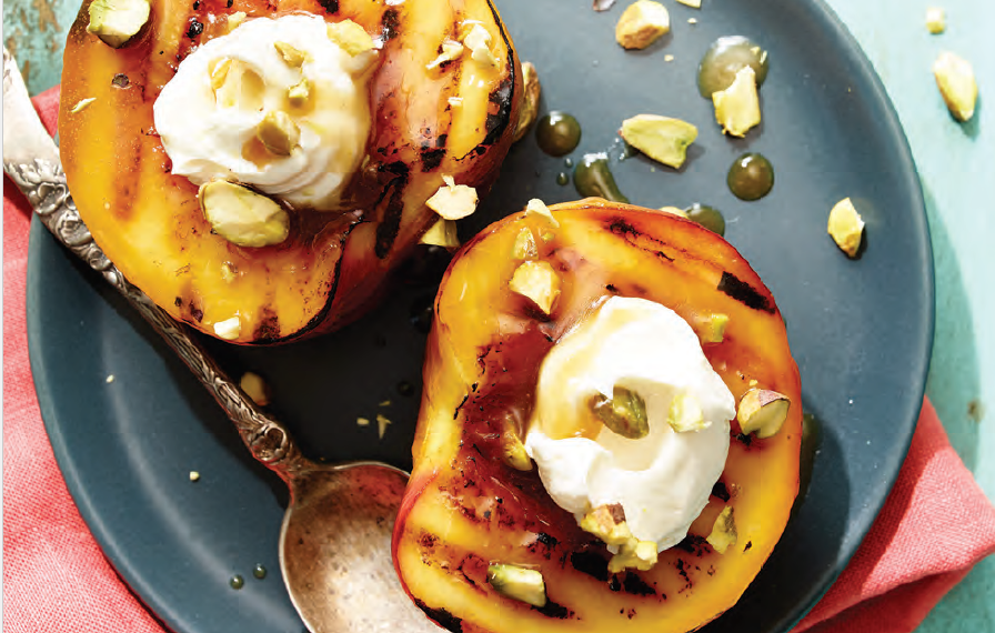 Grilled brown sugar peaches (click image for recipe)