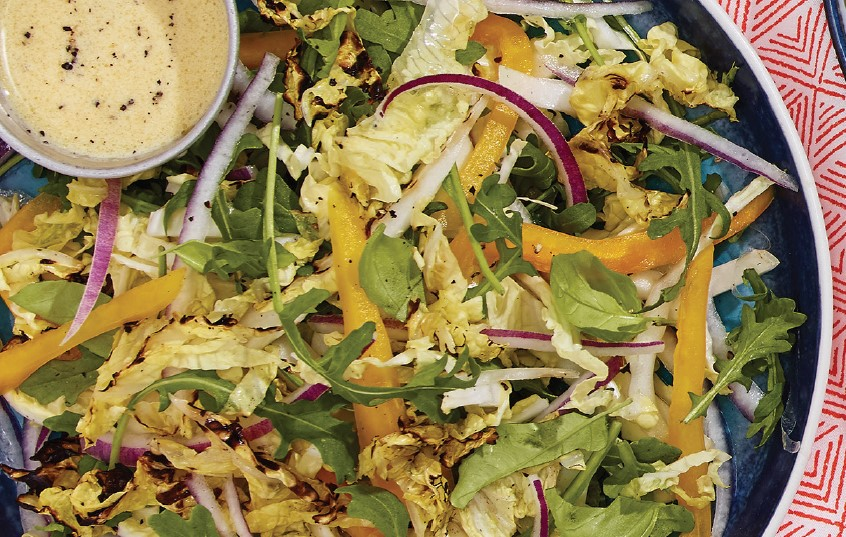 Grilled Napa Cabbage Slaw with Summer Dressing