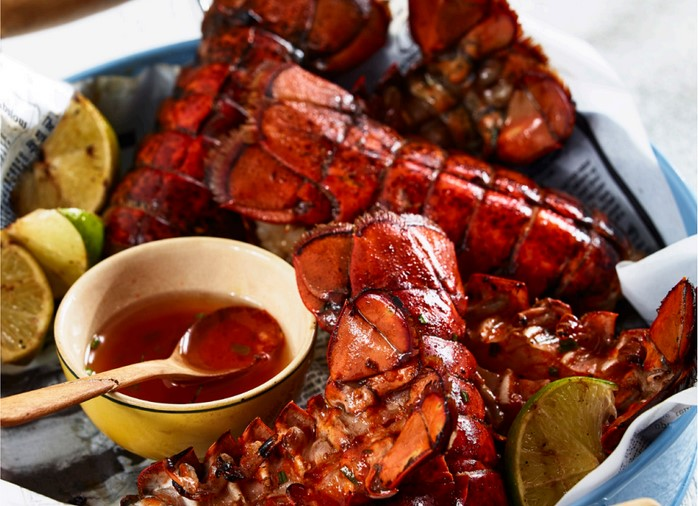 Sriracha grilled lobster (click for recipe)