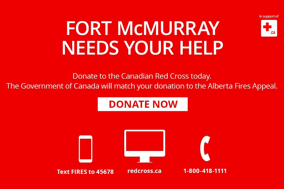 Canadian government will match donations for Fort McMurray relief