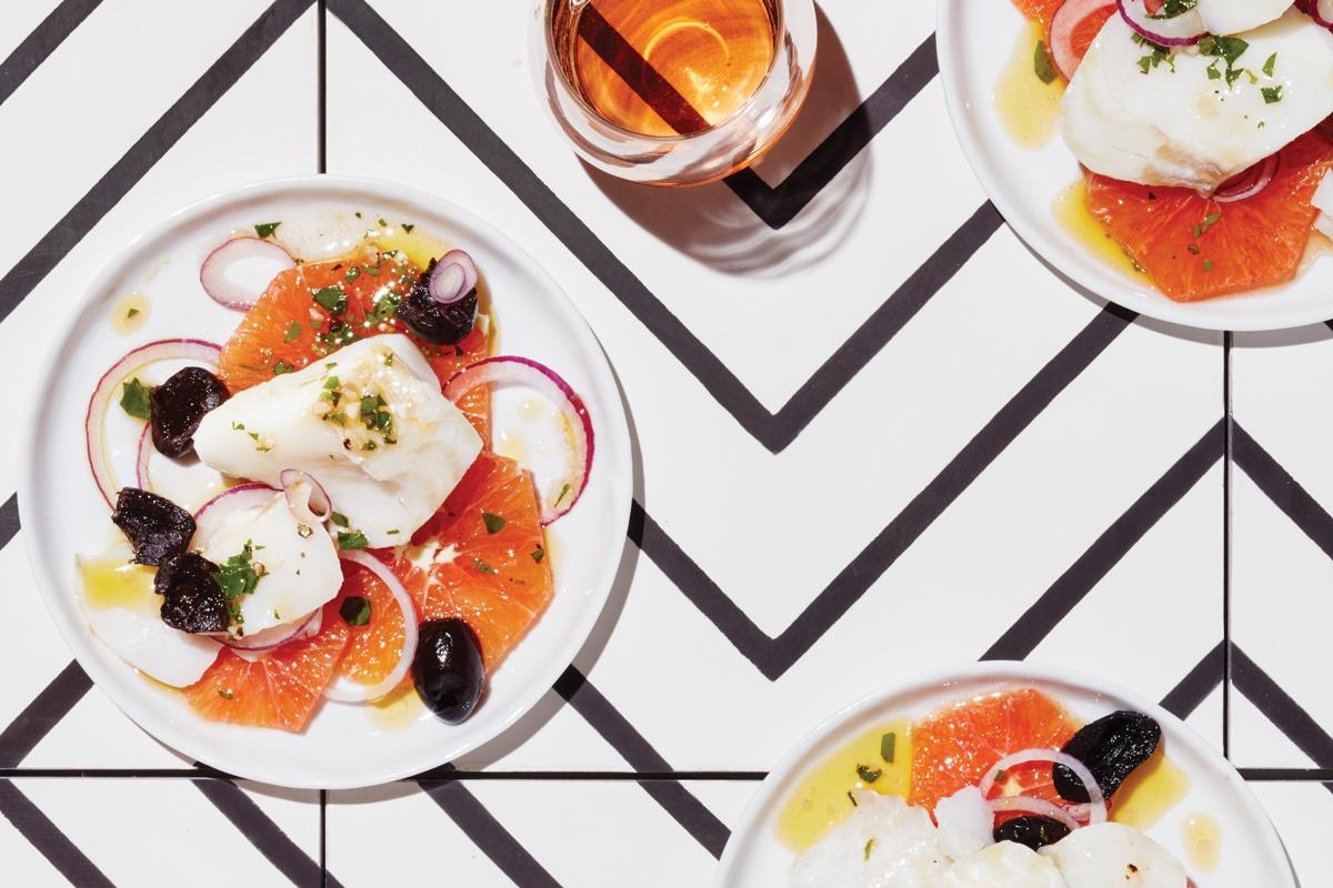 Cod, Orange and Olive Tapas