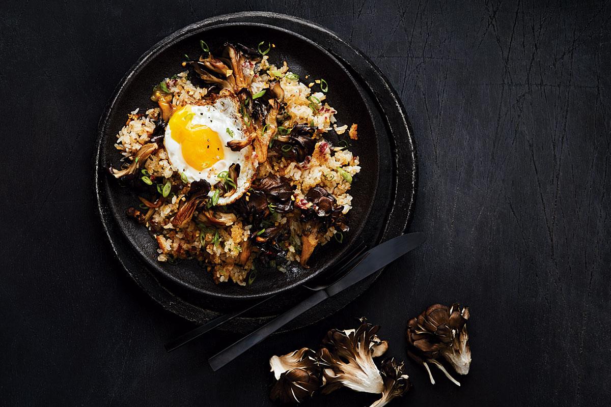 Filipino-Style Fried Rice with Crispy Maitake