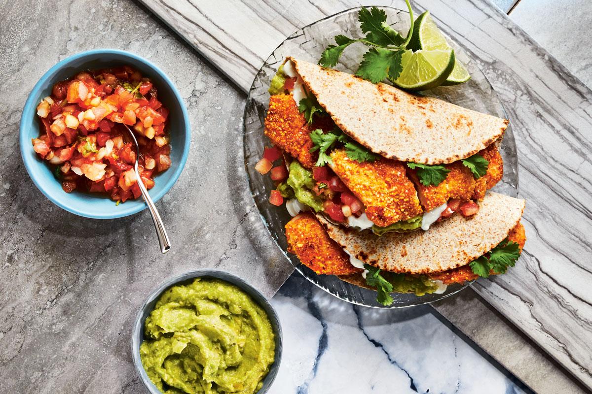 Cornmeal-Crusted Fish Tacos