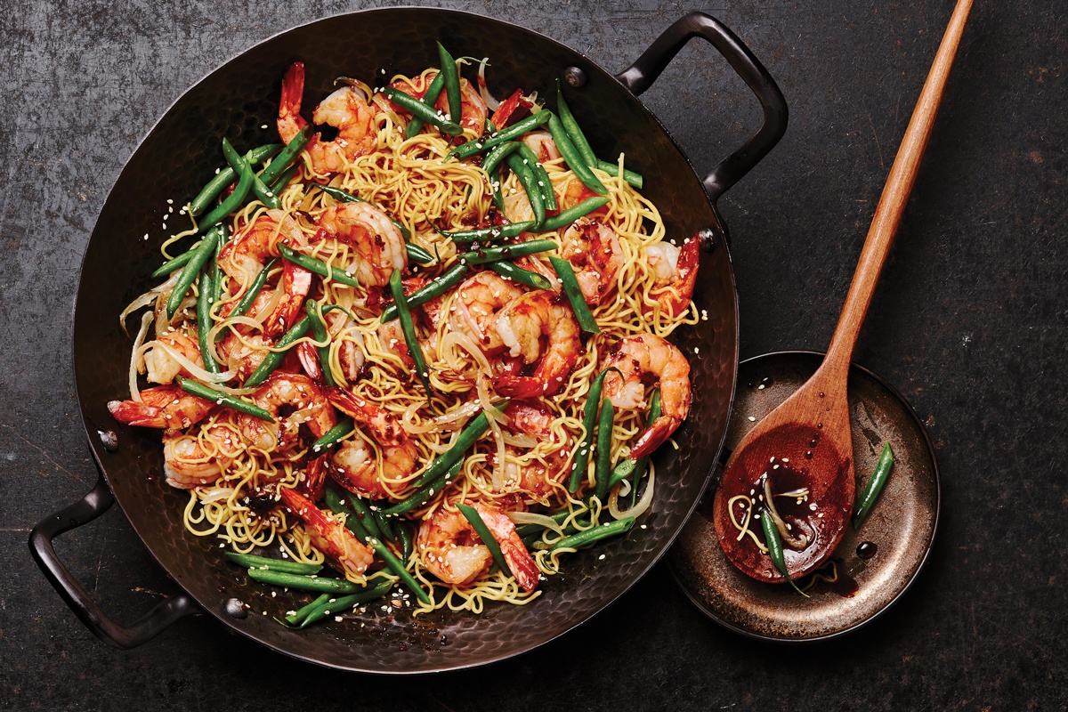 Honey Garlic Shrimp & Green Bean Stir-Fry