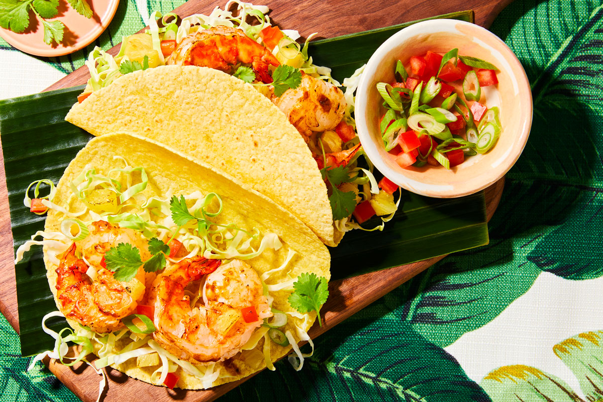 Jerk Shrimp Tacos with Pineapple