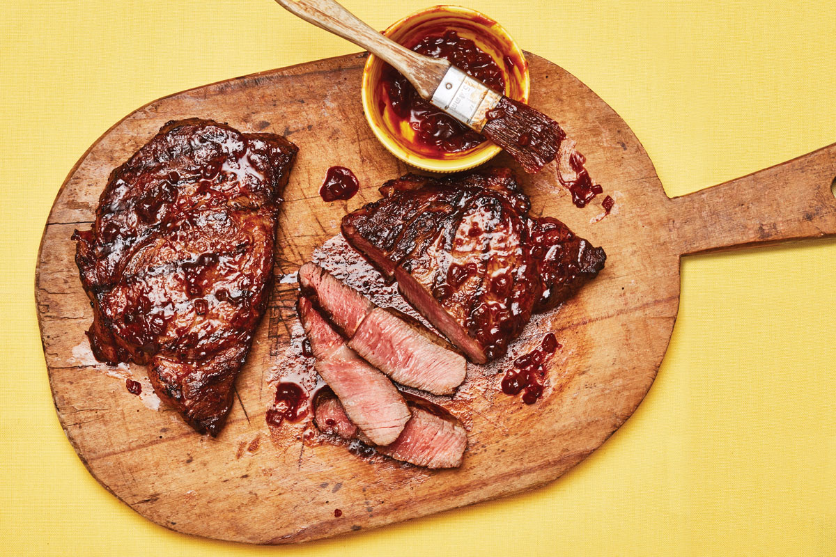 Grilled Steak with Coca-Cola BBQ Sauce