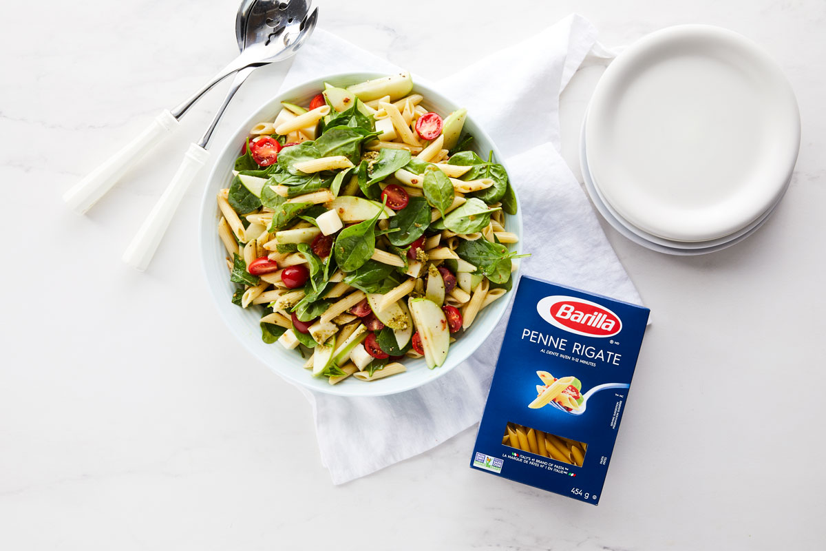 Penne, Spinach & Apple Pasta Salad