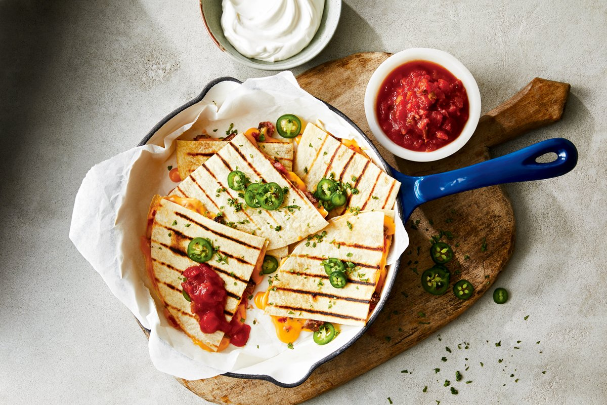 Quick and Easy BBQ Steak Quesadillas