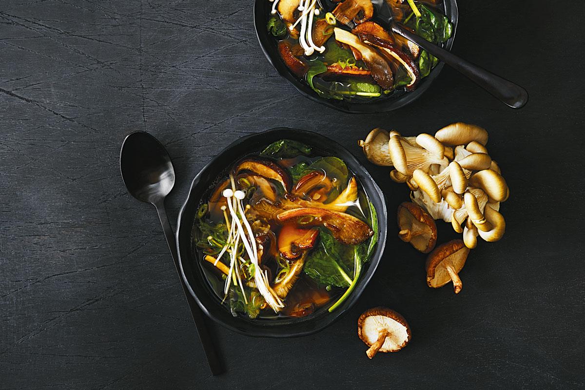 Mixed Mushroom Miso Soup