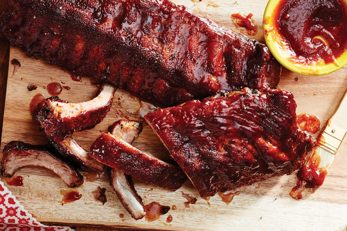 Smoked Ontario Pork Back Ribs with Maple Habanero BBQ Sauce