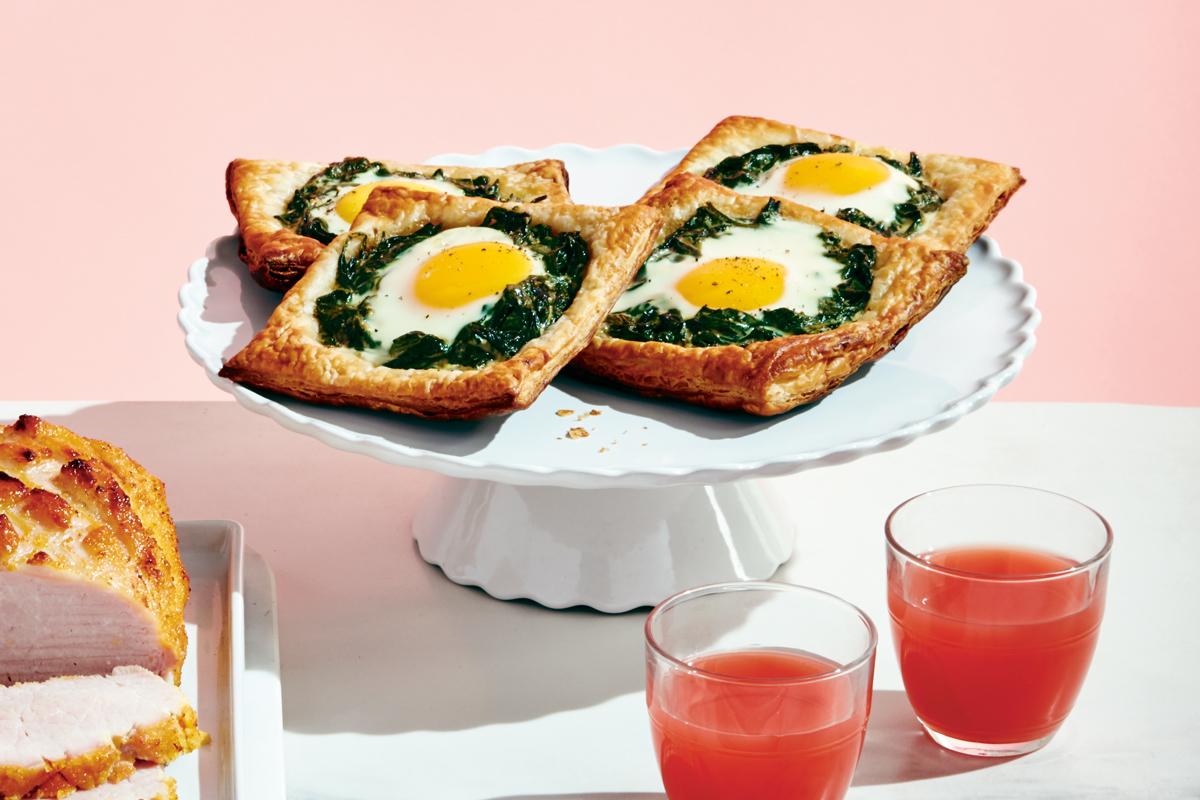 Spinach Florentine Baked Egg Tartlets