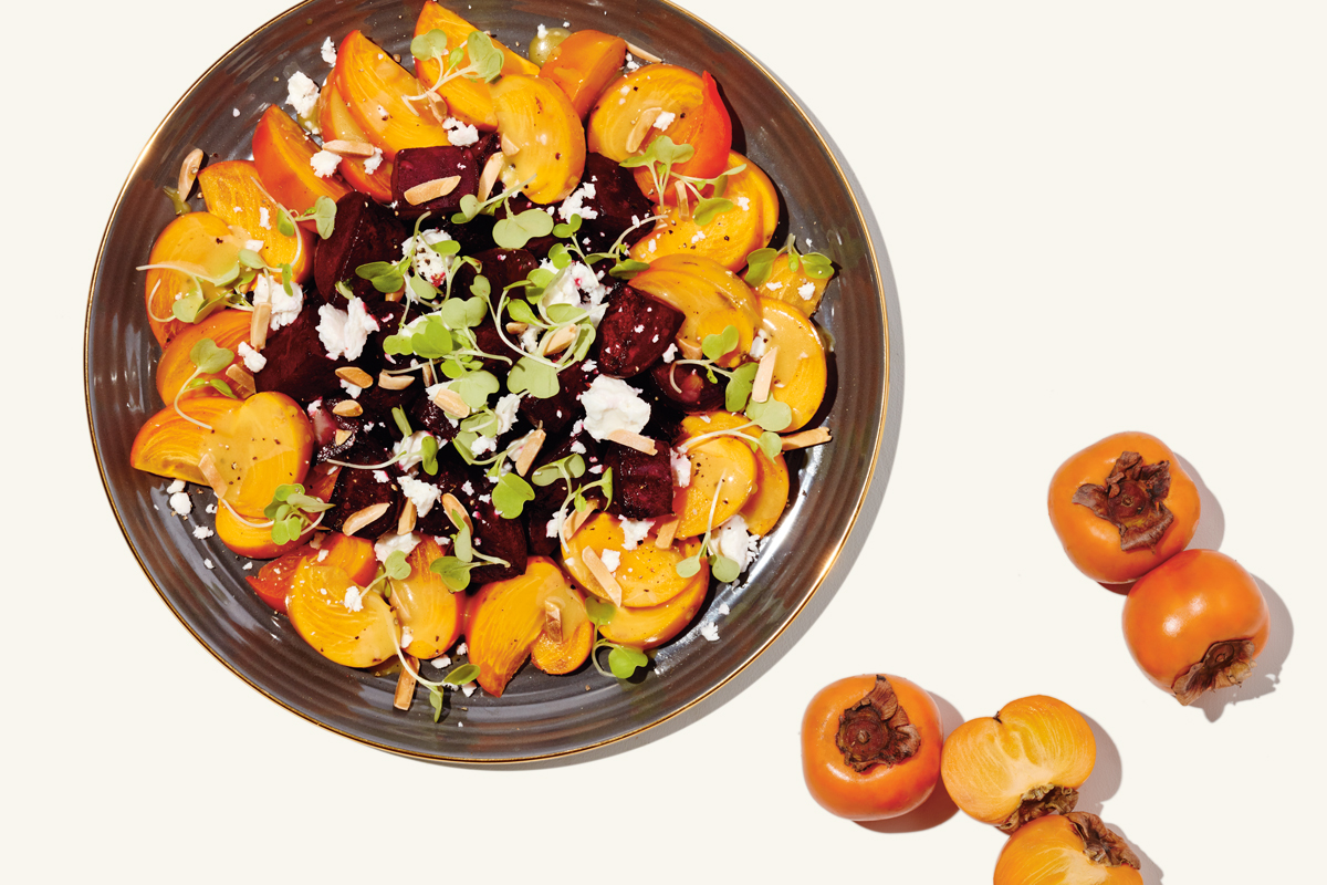 Persimmon & Beet Salad with Almonds